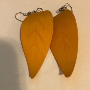 Handcrafted light weight wooden earrings